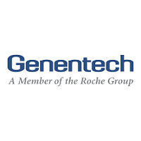 Genentech logo subtitle A Member of the Roche Group